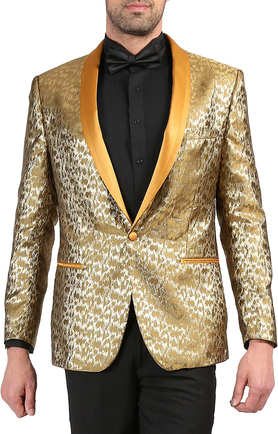 Ferrecci Men's Webber All stores are shop sold Modern Fit with Shawl Tuxedo Collar Blazer