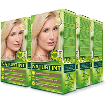 Naturtint Permanent Hair Color 10N Light Dawn Blonde (Pack of 6), Ammonia Free, Vegan, Cruelty Free, up to 100% Gray Coverage, Long Lasting Results