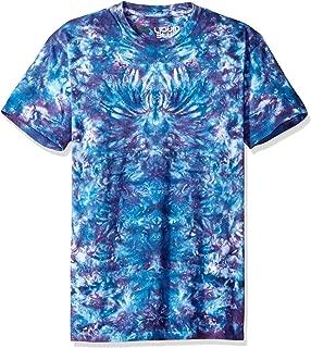 Liquid Blue Men's Crazy Blue Krinkle Tie Dye Short Sleeve T-Shirt