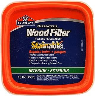 Elmer's E891 Carpenter's Stainable Wood Filler, 1 Pt Tub, 12-24, 1 Pint, Light Tan
