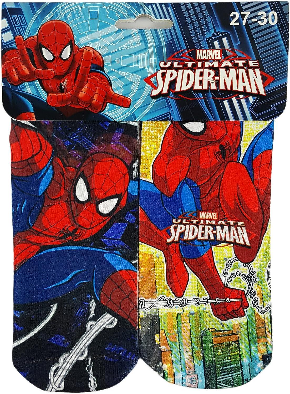 Boys Marvel Spider Man 2021 model Socks 2 security Pack 27 EU UK 30 9-12