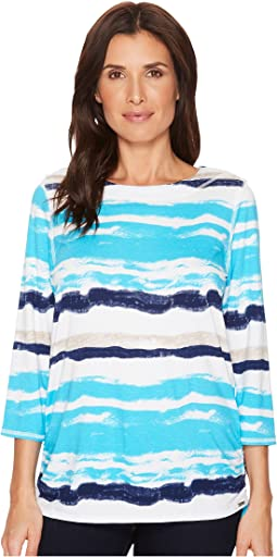 FDJ French Dressing Jeans Water Color Stripe Top