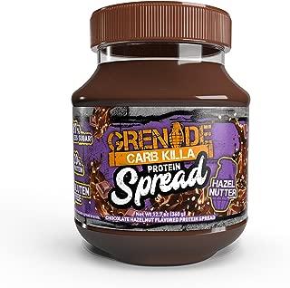 Grenade Carb Killa Protein Chocolate Spread | 7g High Protein Hazelnut Snack | Keto Friendly Low Net Carb Low Sugar | Gluten Free No Stir | Hazel Nutter, 12.7oz