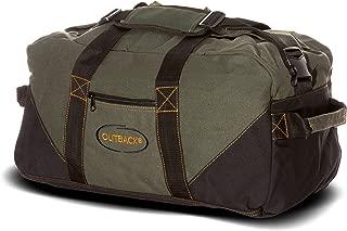 "Ledmark Heavyweight Cotton Canvas Outback Gym Bag, Black/Green, 24"" x 16"""