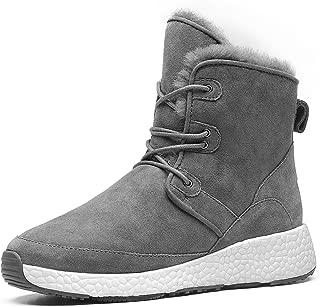 Aumu Sheepskin Taurus Metal Buckle Brass Eyelets Suede Upper Laces Winter Snow Boots
