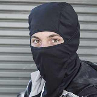 Balaclava Motorcycle Mask/Motorcycle Balaclava - Lighter Than Neoprene - Winter Outdoor Ski Gear - Mens Riding Full Hood - Black Tactical Accessories - Helmet Masks for Men - One Size Fits Most