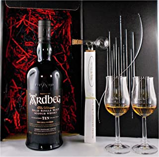 Geschenk Ardbeg Ten Single Malt Whisky  Glaskugelportionierer  2 Bugatti Whiskey Gläser
