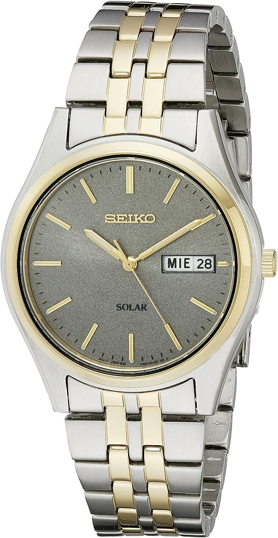 Amazon.com: Seiko Men's SNE042 Stainless Steel Solar Watch : Seiko:  Clothing, Shoes & Jewelry
