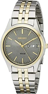 Seiko Men's Two-Tone Stainless Steel Solar Watch