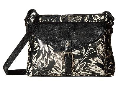 Patricia Nash Sunflower Print Avellino Crossbody (Sunflower/Black/White) Cross Body Handbags