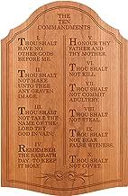 LilyMarie Decor The Ten Commandments, Wall Décor, Plaque - Carved Cherry - 23