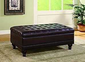 coaster tufted storage ottoman dark brown