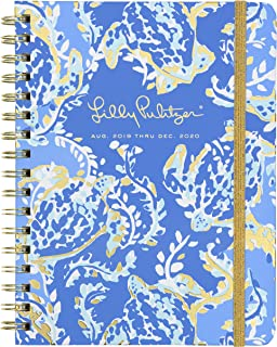 "$22 » Lilly Pulitzer 17-Month Aug. 2019 - Dec. 2020 Monthly Hardcover Planner, 8.25"" x 5"", Monthly Overview Layout, Turtley Awesome"