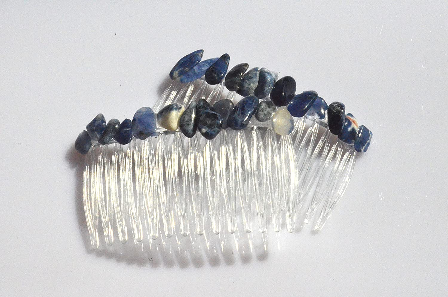 Sodalite Stone Hair Combs Max 83% OFF 2 Quantity Rare of