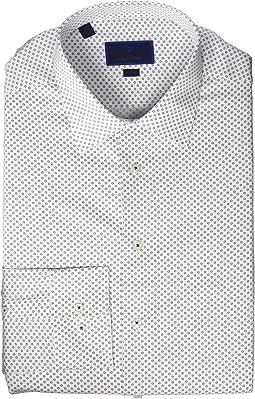 Trim Fit Mini Printed Flower Dress Shirt