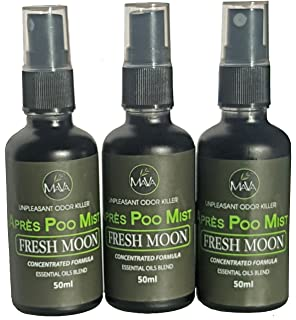 Toilet Poo Spray Après Poo Mist, Citrus Scent, 50ml Bottles, Pack of 3, Great Value, 720 uses, Up to 1 Year Supply, Most Powerful and All Natural Toilet Deodorizer, Risk Free Offer