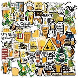 50Pcs Beer Sticker Stickers for Adults Waterproof Stickers for Water Bottles Book Laptop Bicycle Luggage Cup Mobile Phone ...