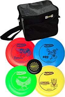 Innova Disc Golf Set with 4 Discs and Starter Disc Golf Bag – DX Distance Driver,..