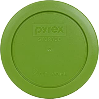 Pyrex 7200-PC Green 2 Cup Round Food Storage Lid for Glass Bowls (Lid Only - Container not Included)