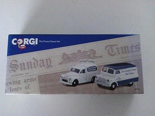 Corgi 1 43 Scale 97740 - The Times Classic Set - Morris Minor Van & Bedford Van