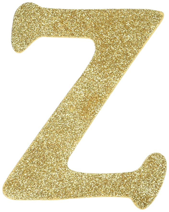 Darice 9190-964Z Wood Letter Z, Assorted Glitter