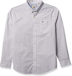Dockers Men's Long Sleeve Signature Comfort Flex Shirt (Print)