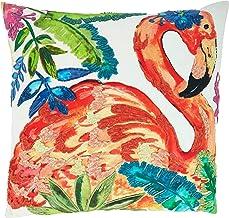 غطاء وسادة بتصميم طائر الفلامينغو من مجموعة طيور الجنة من سارو لايف ستايل 50.8 سم × 50.8 سم، متعدد الألوان
