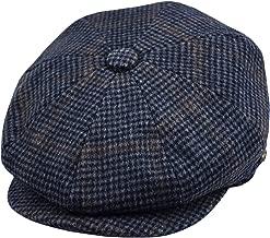 Men's Wool Newsboy Cap, Herringbone Driving Cabbie Tweed Applejack Golf Hat