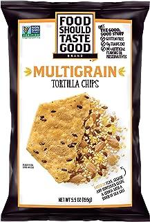 Food Should Taste Good 脆玉米片, 杂粮, 无麸质脆片, 5.5盎司(155g)(12件装)