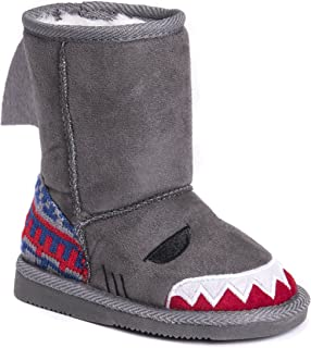 MUK LUKS Kid's Finn Shark Boots Fashion