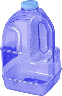 GEO 1 Gallon (128oz) BPA Free Reusable Leak-Proof Drinking Water Bottle Jug w/48mm Screw Cap (Dark Blue)