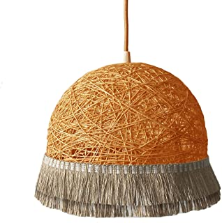 Lámpara TWO FRINGERS naranja - lámpara decorativa con flecos estilo Boho