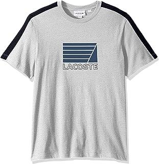 Lacoste Men's T-Shirt Regular Fit TH4284 MNC Grey Chine/Bavy Blue