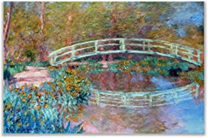 Monet Wall Art Collection Canvas Japanese (Bridge in Monet's Garden), 1900 Prints Wrapped Gallery Wall Art | Stretched and Framed Ready to Hang 24X32