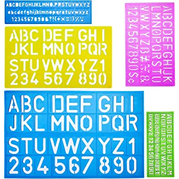 Amazon Com Mr Pen Alphabet Templates Alphabet Stencils Pack