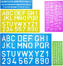 Mr. Pen- Alphabet Templates, Alphabet Stencils, Pack of 5, Letter Stencils, Template Letters, Stencils Letters and Numbers, Art Stencils, Drawing Tools, Drafting Supplies, Tracing Letters and Numbers