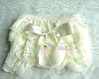 Newborn Baby Ivory Bloomer ~ Newborn Baby Girls Bloomer