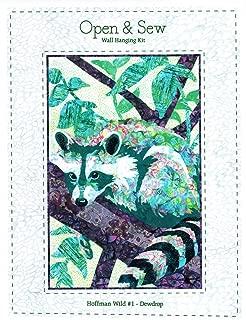 Bali Batiks Hoffman Wild #1 Raccoon DewDrop Wall Hanging Quilt Kit 20