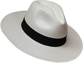 Tumia - Fedora Panama Hat - White or Natural - Non-rollable version.