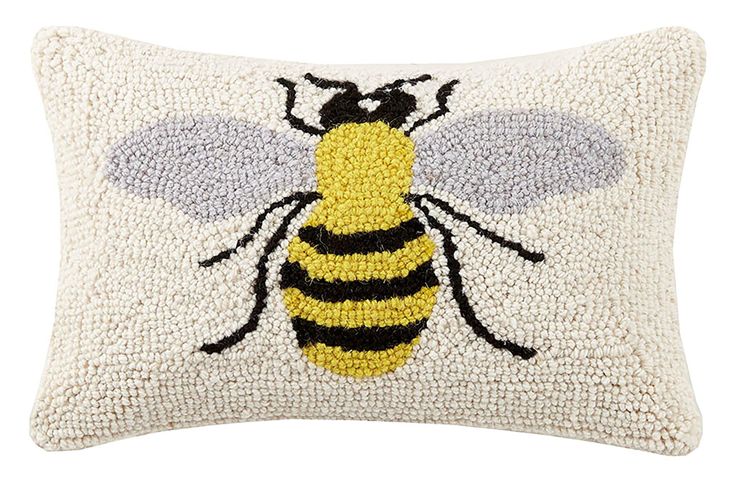 Peking Handicraft Bee 8x12 Hook Pillow Home Kitchen