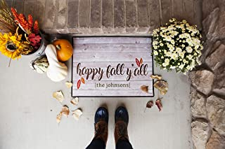 Qualtry Outdoor Fall Decor Outside Door Mat, Personalized Designs Available - Holiday Doormat Decoration (Large Size 36