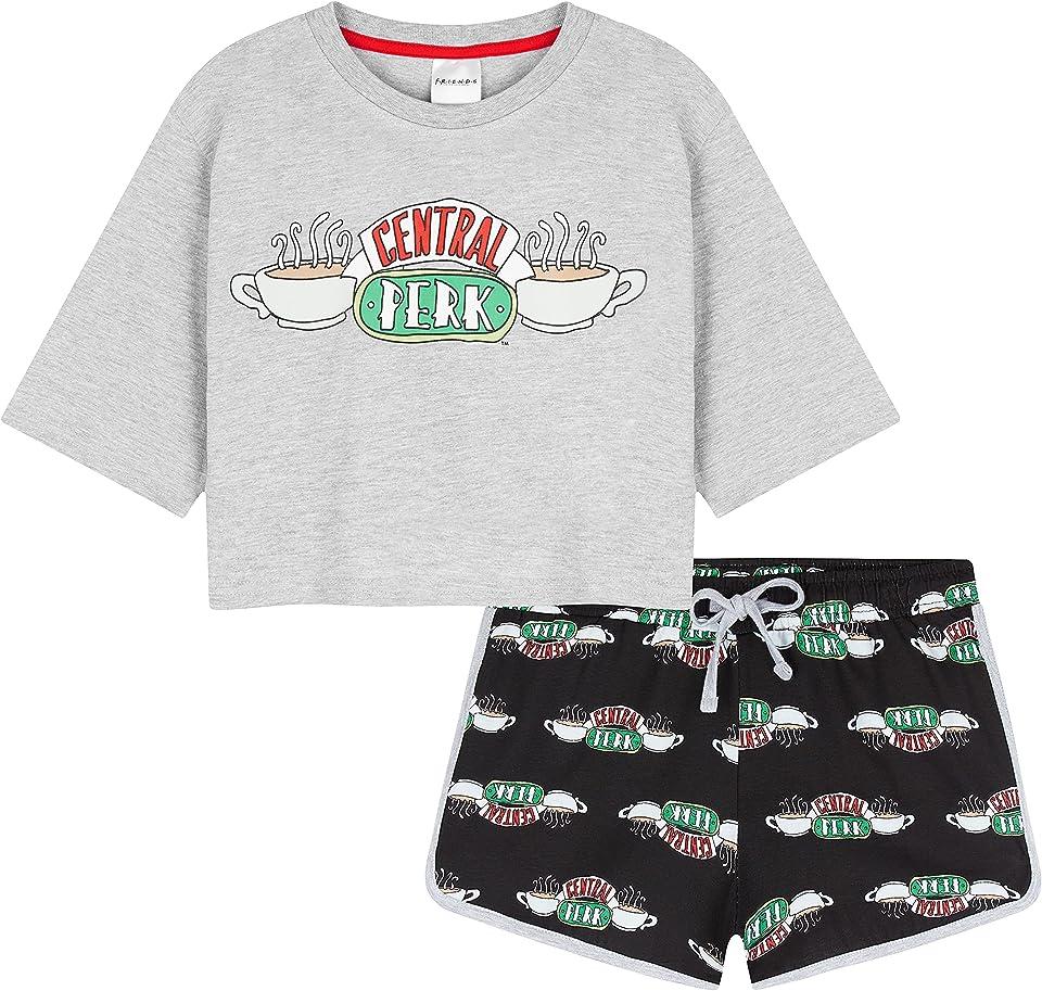 Girls Pyjamas Girls Short PJs Set Central Perk Friends Merchandise Gifts