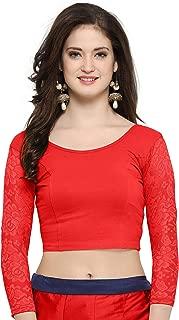 Indian Readymade Cotton Lycra Saree Blouse for Women