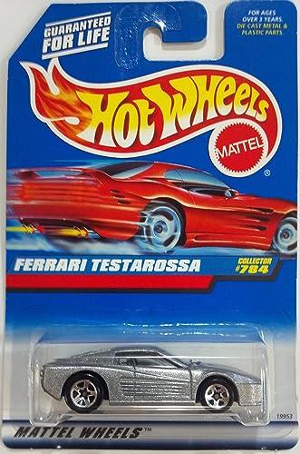 Hot Wheels Silber Ferrari Testarossa  784 on Blau CARD 1998 by Hot Wheels
