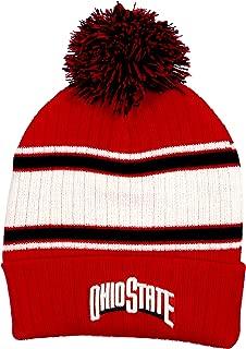 Collegiate Headwear Ohio State Buckeyes Men's Traditional Knit Pom Beanie