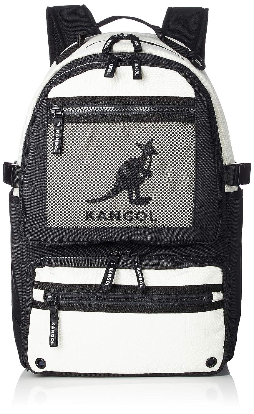 思い出全体にインシュレータ[カンゴール] リュック KANGOLロゴプリント メッシュポケット 軽量 多機能 ポケット多数 PC収納