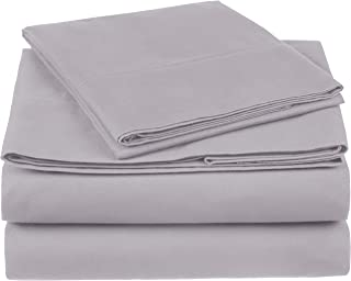 Pinzon 300 Thread Count Organic Cotton Bed Sheet Set - Twin, Dove Grey