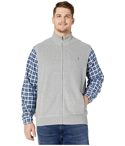 Polo Ralph Lauren Big & Tall Big Tall Zip-Up Knit Vest (Andover Heather) Men