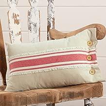 Piper Classics Farmhouse Red Grain Sack Stripe Throw Pillow Cover, 12 x 20, Country Primitive or Farmhouse Home Accent