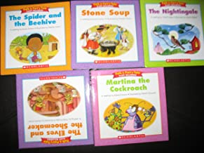 5 Book Set Folk & Fairy Tale Easy Readers~Martina the Cockroach/The Nightingale/The Elves and the Shoemaker/The Spider and the Beehive/Stone Soup